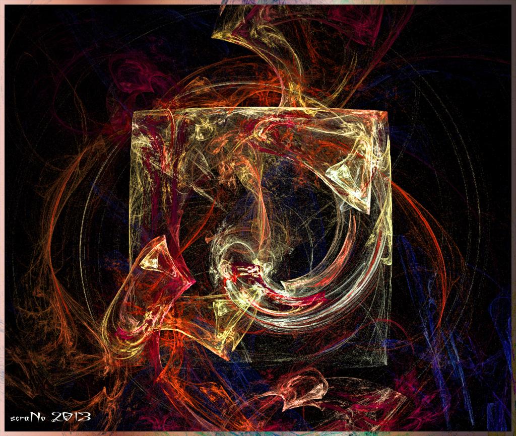 Eiswürfel in der Hölle … je nach thermodynamischen Modell wird es für ihn ungemütlich. Ice cube in Hell ©scrano 2013